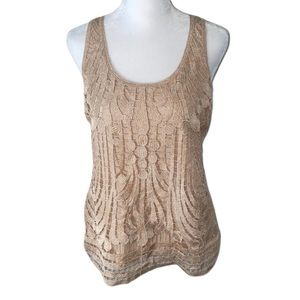 🌸 Express lace front cream tank   Small